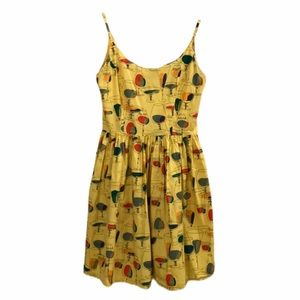 Bettie Page Las Vegas Yellow Cocktail Sundress XL